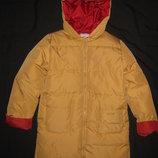 зимняя куртка, натуральный пуховик NafNaf на 5-6 лет