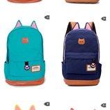 Супер Цена Оригинальный рюкзак с ушками В наличии 9цветов
