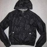 тёмно-синяя куртка ветровка на 160-165 рост