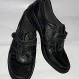 Туфли спортивные footglove 37-38размер по стельке 24см кожаные
