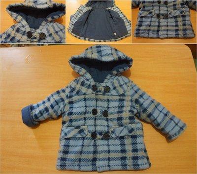 Теплое Флисовое демисезонное пальто курточка на синтепоне 6-12 мес