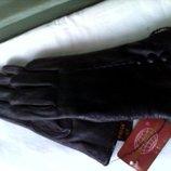Перчатки новые женские кожа маленького козленка с утеплением