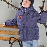 Теплая деми курточка размера от 98 до 134