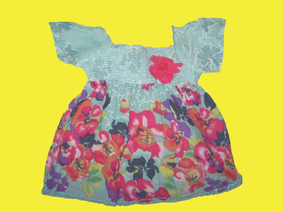 Летняя блузка с цветком на 2 года,рост 92 см,John Lewis