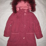 зимнее пальто на 6-7 лет Bilemi, куртка, натуральная опушка