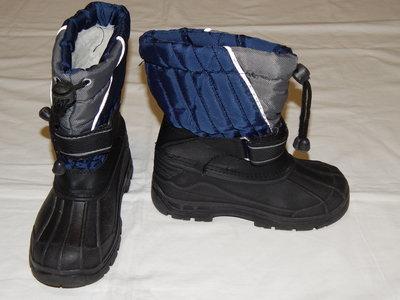 Черно-Синие сноубутсы. Унисекс. Размер 10 28 .