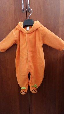 человечек тыквочка на хелоуин 0-4мес