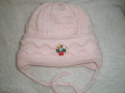 Зимняя шапочка на девочку 6мес до 1 года