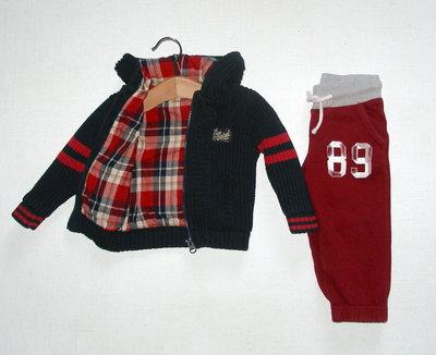 Теплые спортивные брюки для мальчика 9-12 мес
