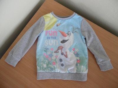 Кофта батник детская на 3-5 лет Disney Дисней