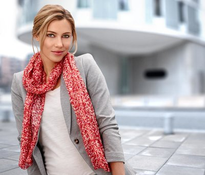 Тонкий шарф-шаль шифон Tchibo германия 50х200