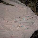 жіночий теплий халат 46-48 розмір довгий тапочки в подарунок