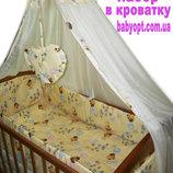 Распродажа постельных наборов в кроватку от производителя Качество