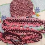 шапочка и шарф на объем 54 - 55 см